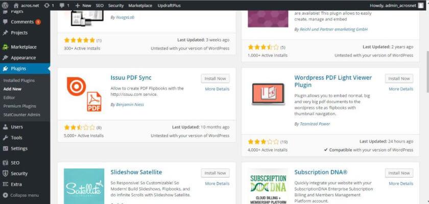 Wordpress flip book plugin page