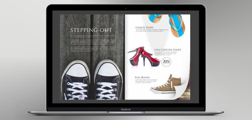 a catalog maker engages shoppers