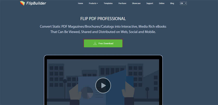 Website of Flipbuilder