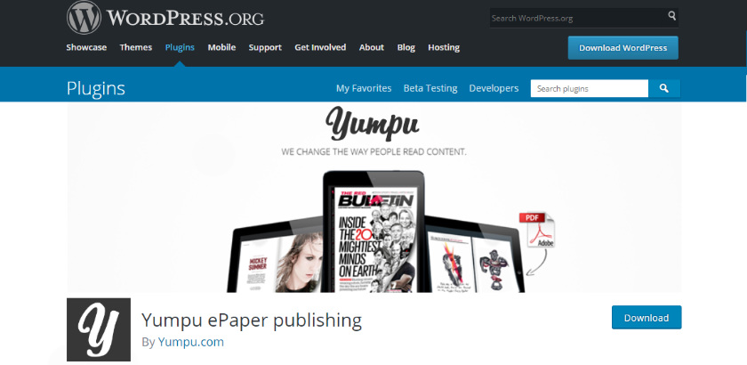 flipbook wordpress plugin from yumpu