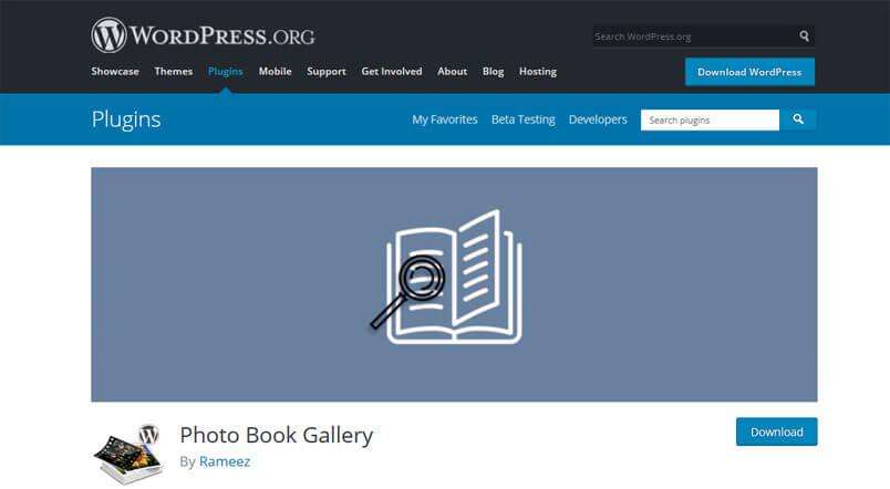 Wordpress plugin photobook gallery