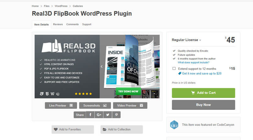 Real 3D WordPress Plugin