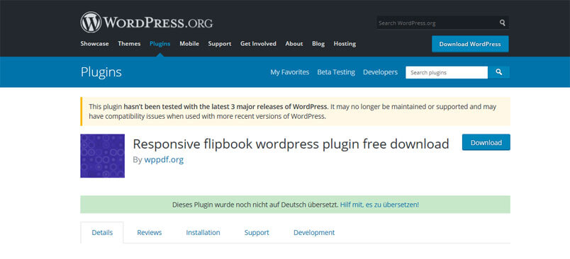 Responsive WordPress flip book plugin