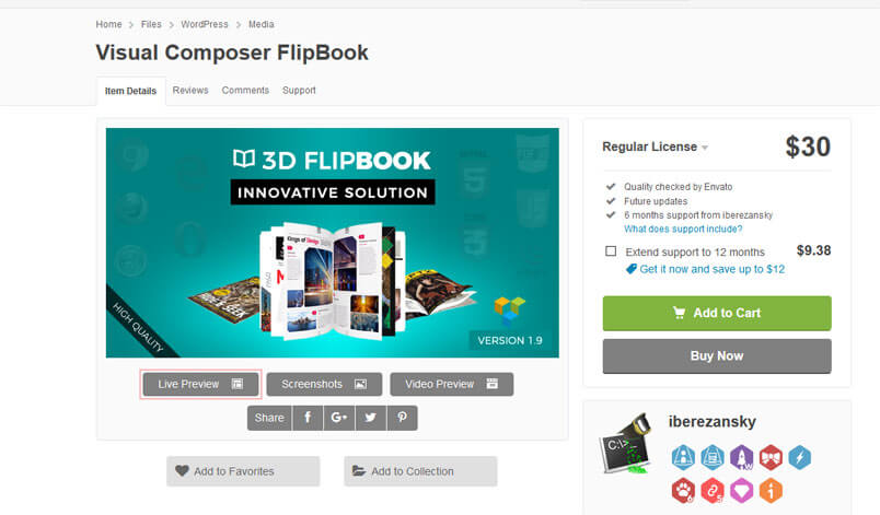 Unreal Flipbook - Visual Composer Addon