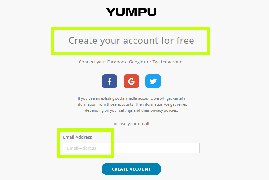 Create your free account on YumpuPublishing