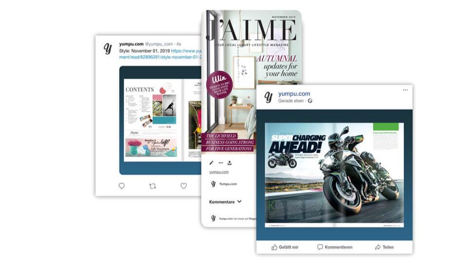 Digital catalog software with social media integration